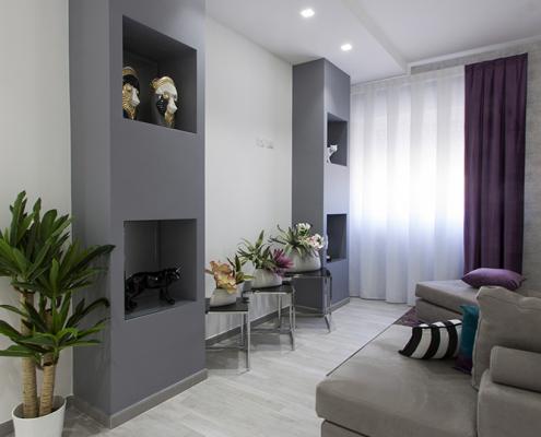 progetto interni soggiorno moderno caltanissetta