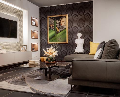 parete soggiorno con televisore gela