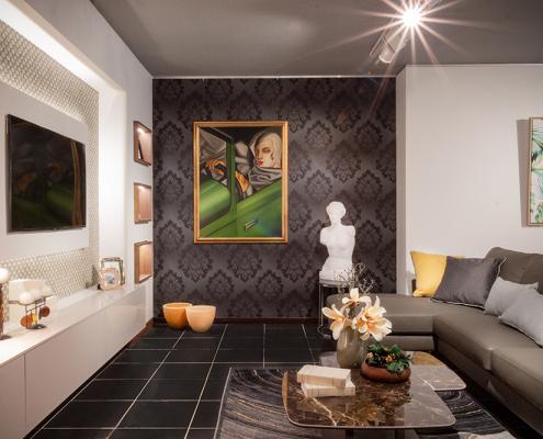 parete soggiorno moderna gela