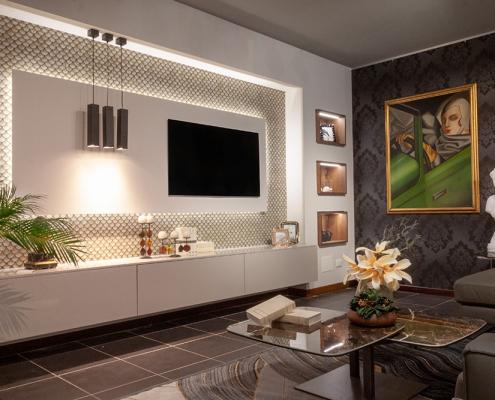 progettazione parete soggiorno gela